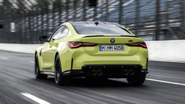 2021 BMW M4 Competition Coupe - rear view dynamic