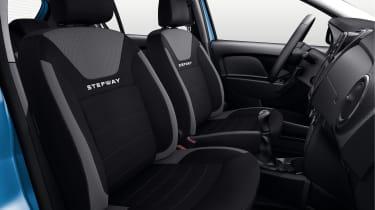 Sandero Stepway models enjoy upgraded, deeply-woven upholstery.
