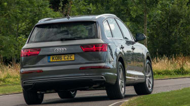Despite the extra weight of batteries, the Q7 e-tron handles well for its size and weight