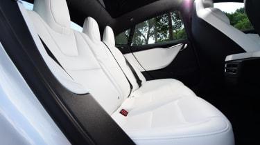 Tesla Model S - rear seats