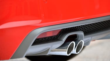 Twin exhaust tips add to the A1's sporty image