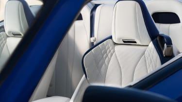 Lexus LC500 Convertible front seat detail