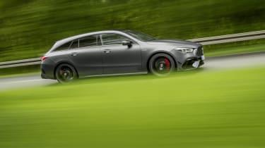 2019 Mercedes-AMG CLA 45 S Shooting Brake - fast side panning shot