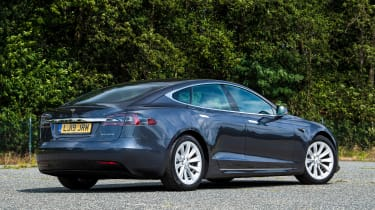 Tesla Model S saloon rear 3/4 static