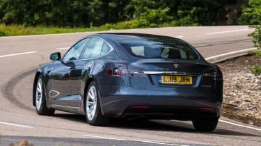 Tesla Model S saloon rear cornering