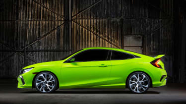 Eye-catching style is the intention behind the new Honda Civic coupe concept's design