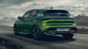 2021 Peugeot 308 - rear 3/4 dynamic