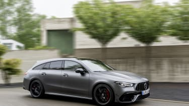 2019 Mercedes-AMG CLA 45 S Shooting Brake - side view passing front