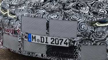 2020 BMW M4 prototype grille and headlights