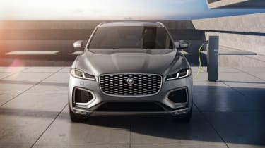 2020 Jaguar F-Pace P400e plug-in hybrid- front static view