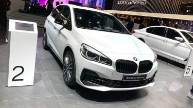 BMW 225xe front static at the 2019 Geneva Motor Show
