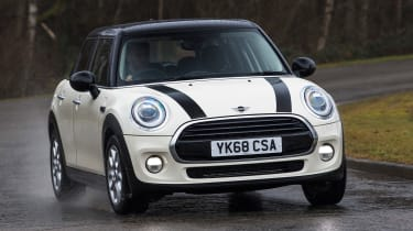 MINI 5-door hatchback front cornering