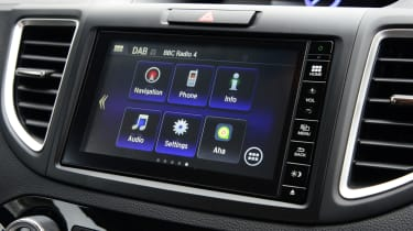 Despite dated graphics the infotainment system allows plenty of ways to connect a smartphone or music player