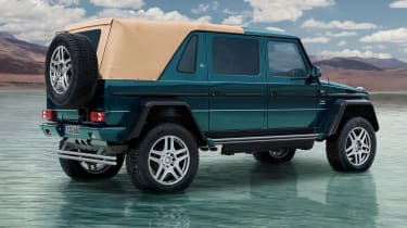 The Mercedes-Maybach G650 Landaulet combine the luxury of the S-Class saloon with the capability of the G-Class SUV