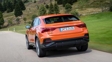 Audi Q3 Sportback SUV rear tracking