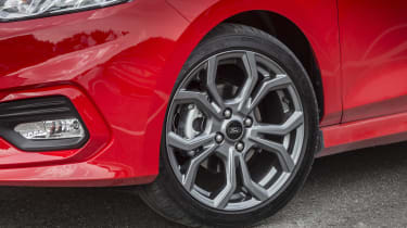 17-inch alloy wheels are standard on ST-Line models, with 18-inch wheels as an optional upgrade