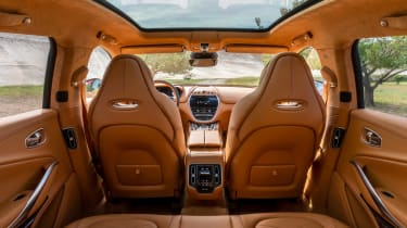 Aston Martin DBX interior - view from back seats