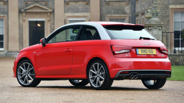 The three-door A1 seen here was later joined by a more practical five-door Sportback model