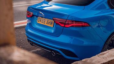 Jaguar XE Reims Edition rear end detail