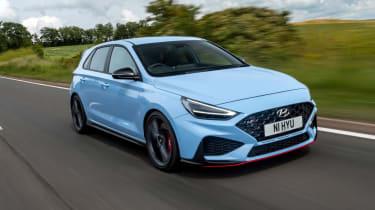 2021 Hyundai i30 N hatchback - front 3/4 dynamic