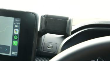 2021 Dacia Sandero hatchback - phone holder