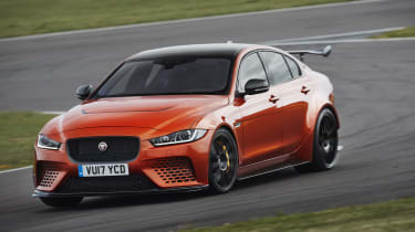 This is far from a regular Jaguar XE with a bodykit and bright paint, though