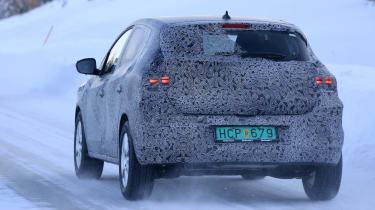 2021 Dacia Sandero winter testing - rear dynamic 3/4