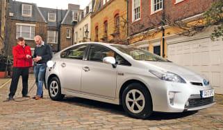 Toyota Prius Plug-In hatchback 2013 front quarter static