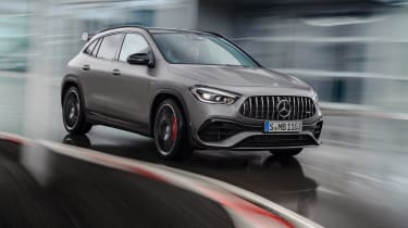 Mercedes-AMG GLA 45 S SUV front cornering