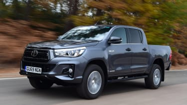 Toyota Hilux pickup front 3/4 tracking