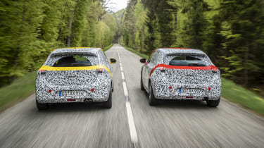 Vauxhall Corsa prototype - rear driving