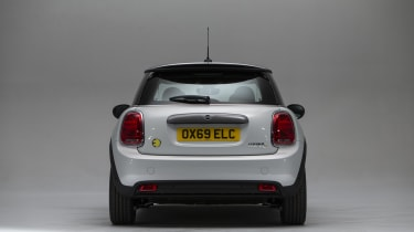 MINI Electric - rear straight on view
