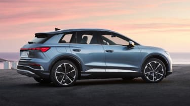 2021 Audi Q4 e-tron SUV - rear 3/4 static