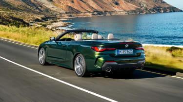 2020 BMW 4 Series Convertible driving - rear