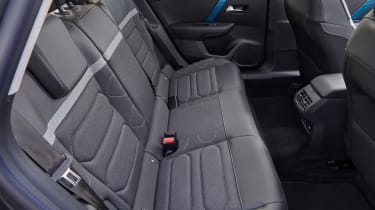 Citroen e-C4 hatchback rear seats
