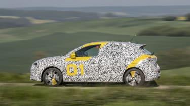 Vauxhall Corsa prototype - side panning shot automatic