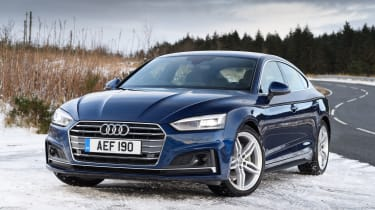 The A5 Sportback has sharp lines and modern features including slim headlights with LED technology