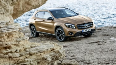 European prices have already been announced for the facelifted GLA, and a £500 price hike seems likely for UK customers