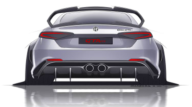 Alfa Romeo Giulia GTAm sketch rear