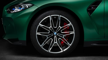 2021 BMW M3 Competition saloon - alloy wheel close up