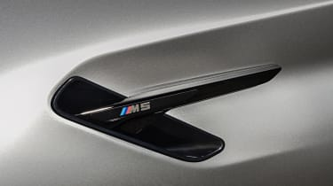 BMW M5 Competition - side gills close up