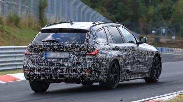 BMW 3 Series Touring rear tracking spy shot