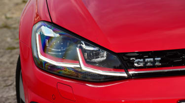 The Golf GTI now gets full-LED headlamps as standard for improved visibility