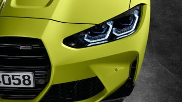 2021 BMW M4 Competition Coupe - front lights close up