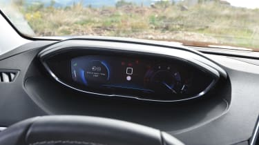 The Peugeot i-cockpit system presents clear information to the driver