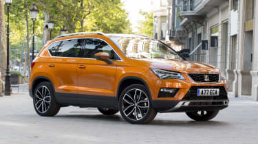 The SEAT Ateca is closely related to the Volkswagen Tiguan, but thanks to a lower price, it gets our nod ahead of the VW
