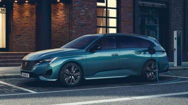 2021 Peugeot 308 SW estate - front 3/4