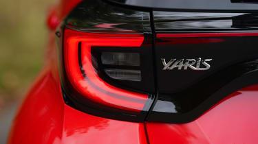 Toyota Yaris hatchback rear lights