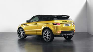 Range Rover Evoque SUV 2013 Limited Edition Sicilian Yellow rear quarter