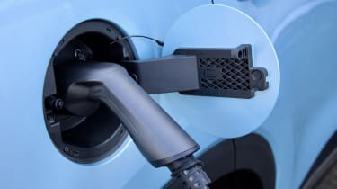 2020 MG HS plug-in hybrid charging port